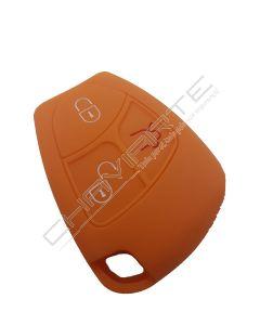 Capa silicone Mercedes, três botões, Smartkey (antiga), laranja
