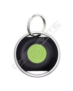 Buddy preto com botão verde