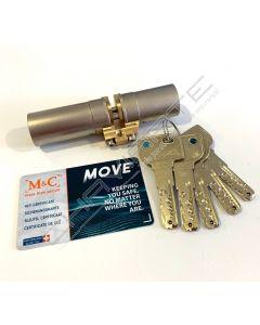 Cilindro M&C Move niquelado, p/Fichet monobloco