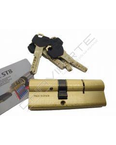 Cilindro ST8 Chaviarte 30x50mm latonado