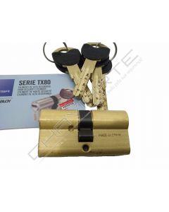 Cilindro Tesa TX80 30x35mm latonado