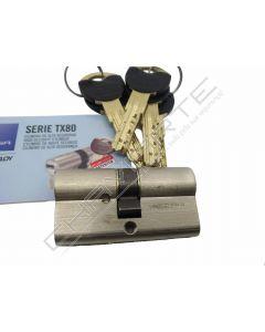 Cilindro Tesa TX80 30x35mm niquelado