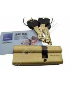 Cilindro Tesa TX80 30x50mm latonado