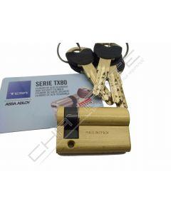 Cilindro Tesa TX80 30x10mm latonado