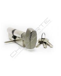 Cilindro Tesa TE5 40x40mm niquelado com botão