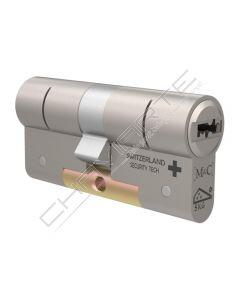 Cilindro sub montado M&C C-Max MIRROR modulock 32mm x 32mm niquelado