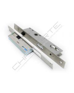 Fechadura eletromecânica automática Tesa TCP, entrada 25 mm, aço inoxidável