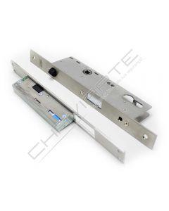 Fechadura eletromecânica automática Tesa TCP, entrada 35 mm, aço inoxidável