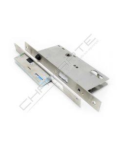 Fechadura eletromecânica automática Tesa TCP, entrada 50 mm, aço inoxidável