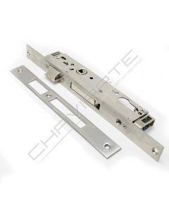 Fechadura de embutir alumínio Tesa 4230 com 3 pontos de fecho, entrada 20mm, niquelado, (varetas M8 não incluídas)