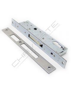 Fechadura de embutir alumínio Tesa 2210 sem trinco (incluí escudo de segurança E210), entrada 25mm, niquelado