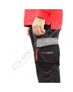 Calça com bolsos Chaviarte com bordado