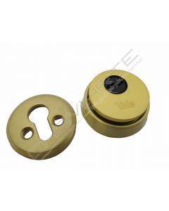 Escudo de segurança YALE com proteção rotativa para cilindro de perfil europeu, dourado