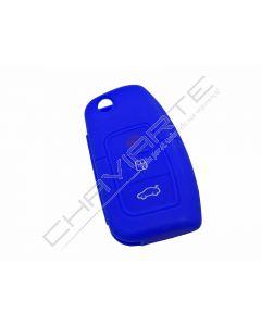 Capa silicone Ford, flip três botões, azul
