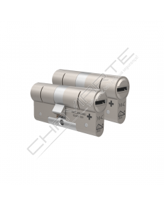 Cilindro M&C Move 32x32mm niquelado, Pack 2 cilindros mestrados