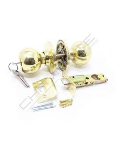 Puxador de bola Tesa 290060, com patilha e chave, dourado