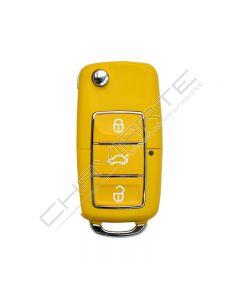 Comando KD 3 Botões tipo VW Amarelo