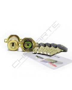 Cilindro ST8 Chaviarte ST8F3636L latonado, para portas Fichet