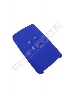 Capa silicone Renault, quatro botões, Smartkey proximidade, azul