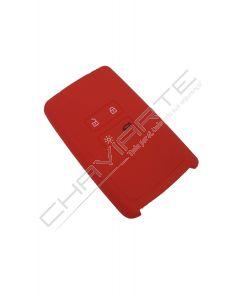 Capa silicone Renault, quatro botões, Smartkey proximidade, vermelho