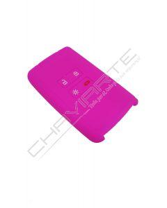Capa silicone Renault, quatro botões, Smartkey proximidade, rosa