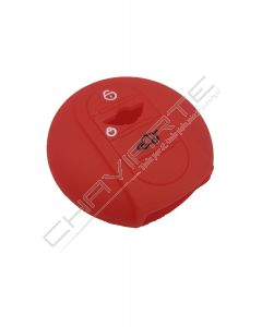 Capa silicone MINI, três botões, Smartkey proximidade, vermelho