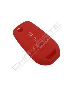 Capa Silicone Renault Três Botões Vermelho