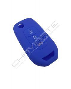 Capa Silicone Renault Três Botões Azul