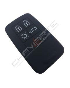 Capa silicone Volvo, cinco botões, negra