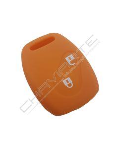 Capa silicone Honda, dois botões, laranja