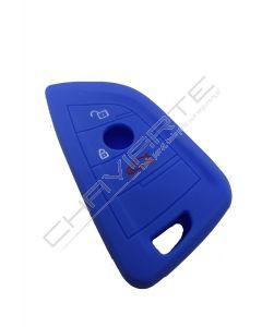 Capa Silicone BMW Três Botões Azul