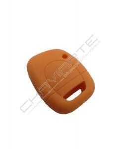 Capa silicone Renault, um botão, laranja