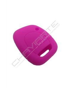 Capa Silicone Renault Um Botão Rosa
