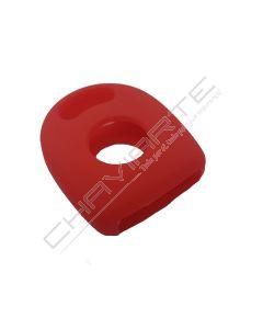 Capa silicone Volkswagen, um botão, vermelho