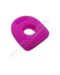 Capa silicone Volkswagen, um botão, rosa