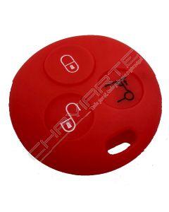 Capa Silicone Smart Três Botões Antiga Vermelha