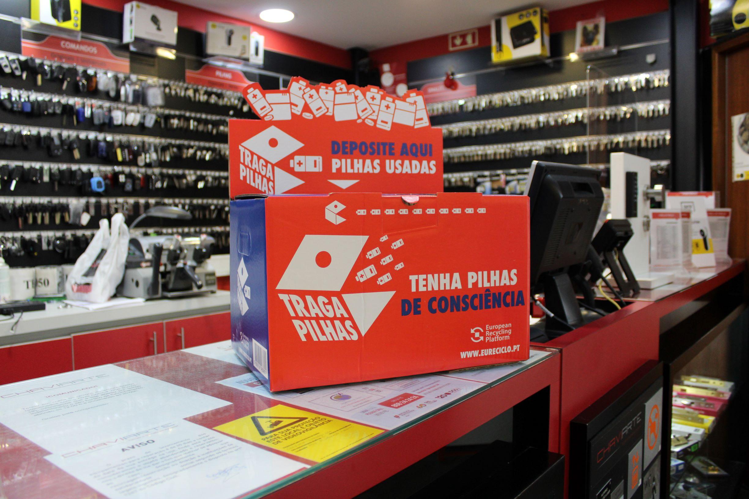 Lojas Chaviarte recolhem Pilhas Usadas em parceria com a ERP Portugal