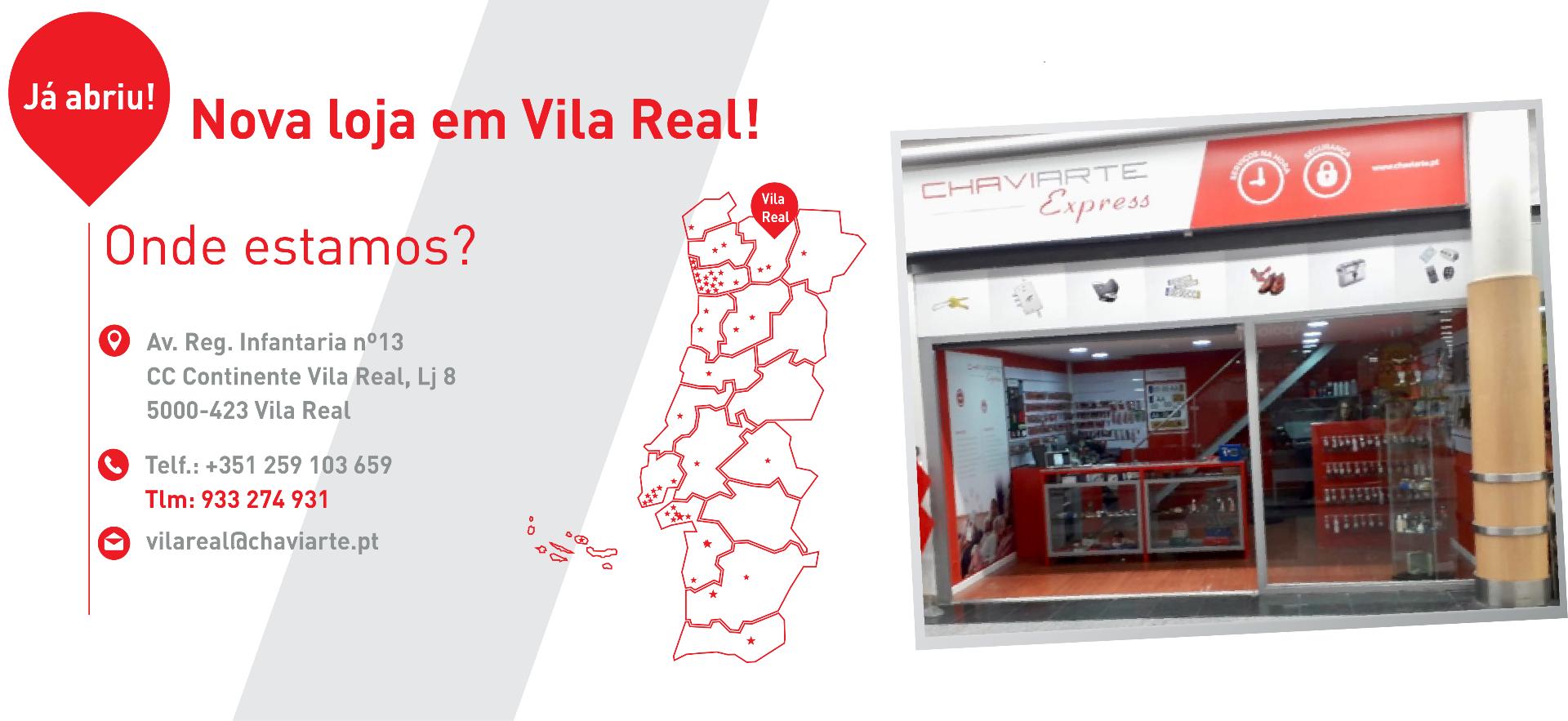 Nova Loja Chaviarte Express Vila Real